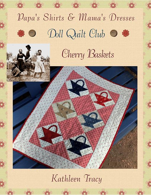 Doll Quilt Club - Cherry Baskets